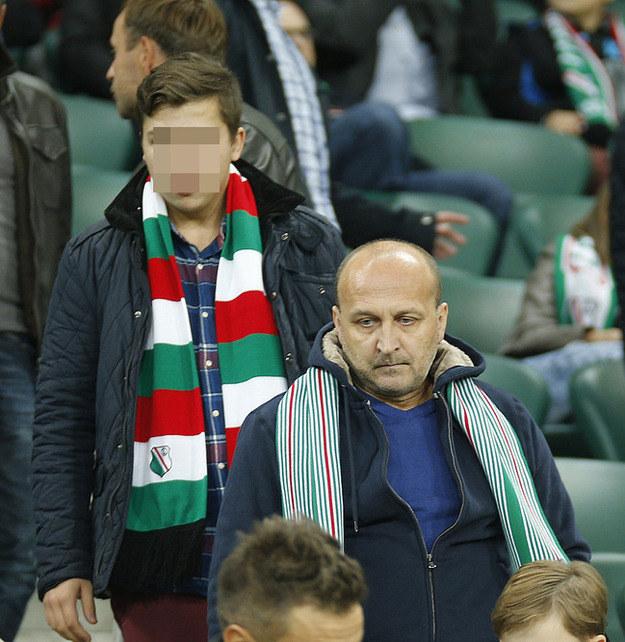 Kazimierz Marcinkiewicz z synem Piotrem /Krzemiński Jordan /AKPA