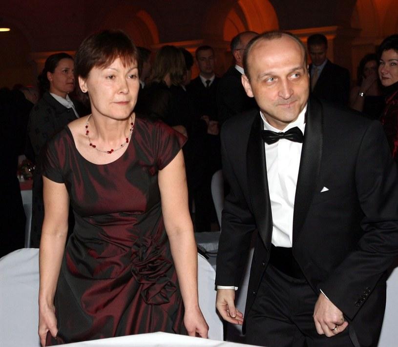 Kazimierz Marcinkiewicz z żoną Marią /Piotr Fotek /Reporter