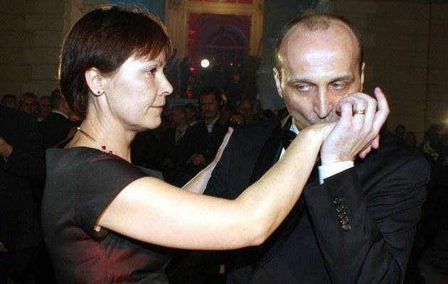 Kazimierz Marcinkiewicz z żoną /Piotr Fotek/REPORTER /East News