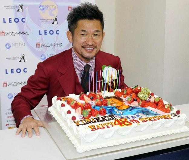 Kazuyoshi Miura swoje 48. urodziny świętował w lutym tego roku /AFP