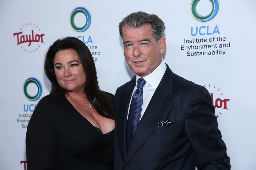 Keely Shaye Smith i Pierce Brosnan /Phillip Faraone / Stringer /Getty Images