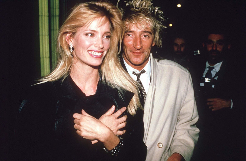 Kelly Emberg i Rod Stewart w 1987 r. /Rex Features /East News