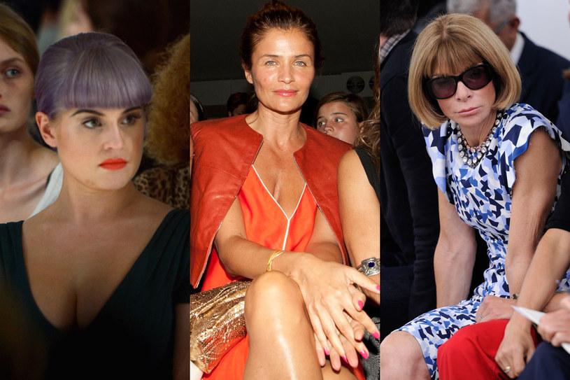 Kelly Osbourne, Helena Cchristensen i Anna Wintour /Getty Images