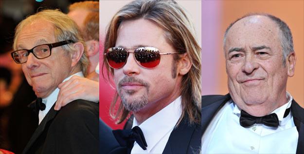 Ken Loach, Brad Pitt oraz Bernardo Bertolucci byli gwiazdami tegorocznego Cannes. /Getty Images/Flash Press Media