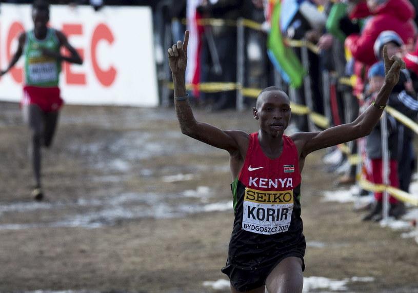 Kenijczyk Japhet Kipyegon Korir zdobył złoty medal mistrzostw świata w biegach przełajowych, które odbyły się w Bydgoszczy /Tytus Żmijewski /PAP