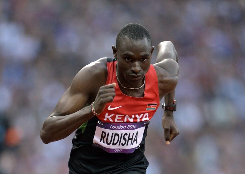 Kenijski biegacz David Rudisha /AFP