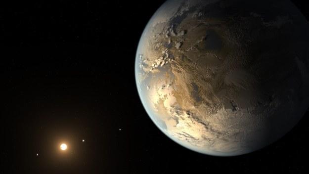 Kepler-186f - grafika ilustracyjna. Fot. NASA Ames/SETI Institute/JPL-Caltech /NASA