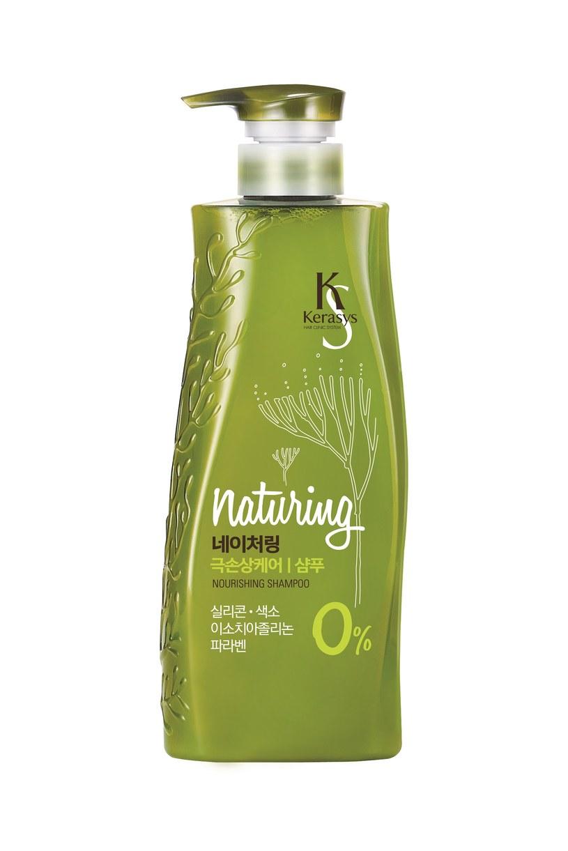 Kerasys Naturing Nourishing  - szampon i odżywka przeznaczone do pielęgnacji włosów cienkich i łamliwych /INTERIA.PL/materiały prasowe