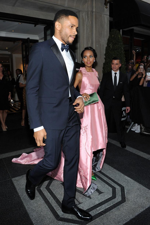 Kerry Washington z mężem /Andrew Toth /Getty Images