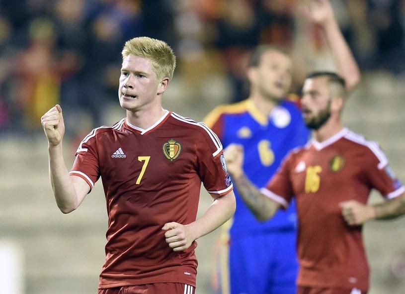 Kevin De Bruyne strzelił dwa gole dla Belgów /AFP