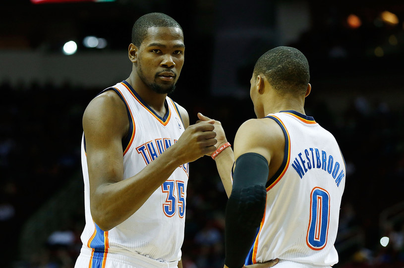 Kevin Durant i Russell Westbrook /AFP