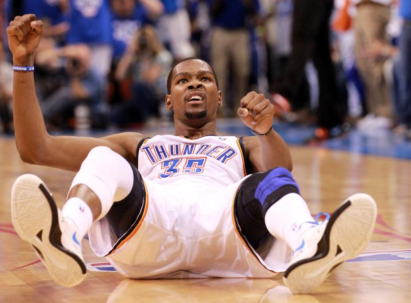 Kevin Durant poprowadził Oklahoma City Thunder do zwycięstwa /. /AFP