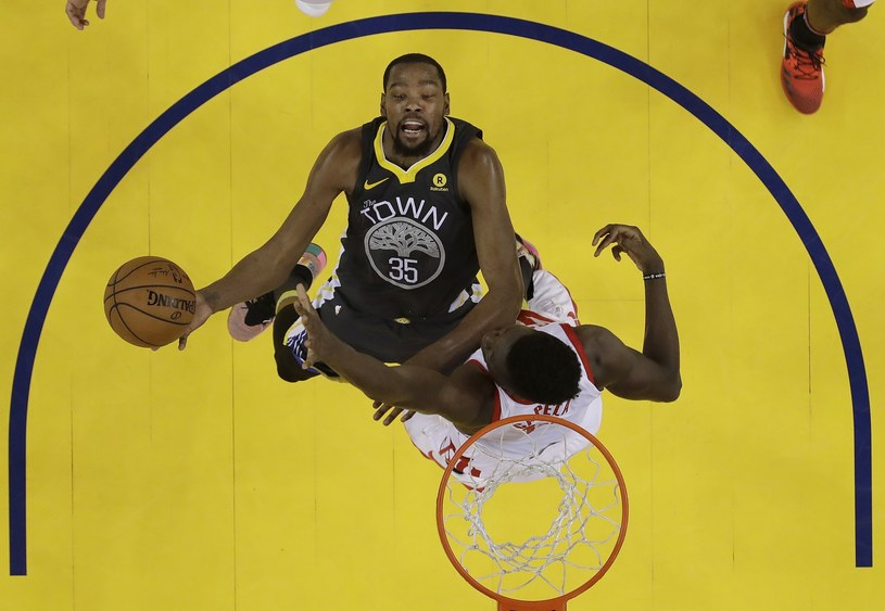 Kevin Durant z Golden State Warriors w meczu z Houston Rockets /Marcio Jose Sanchez /East News