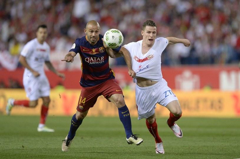 Kevin Gameiro (z prawej) podczas spotkania finałowego Copa del Rey /AFP