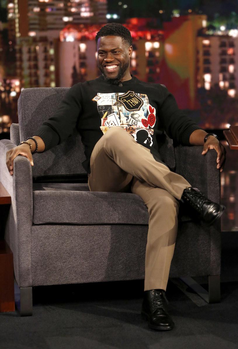 "Kevin Hart w programie ""Jimmy Kimmel Live!"" /Randy Holmes/ABC /Getty Images"