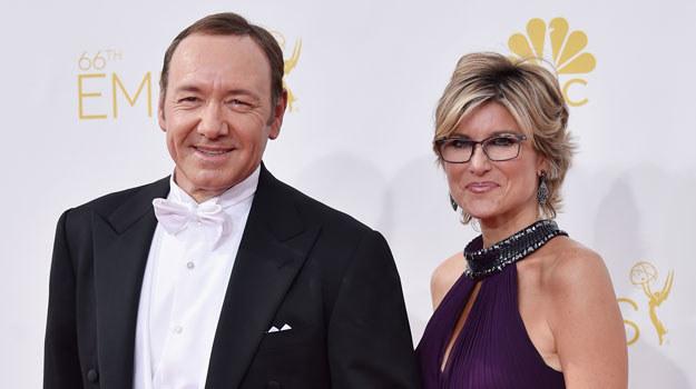 Kevin Spacey i Ashleigh Banfield na gali wręczenia nagród Emmy /Frazer Harison /Getty Images
