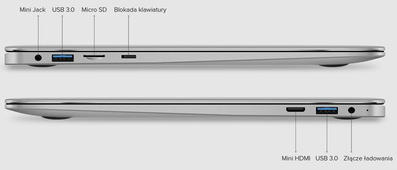 Kiano Elegance 13.3 360 - porty i wejścia /materiały prasowe