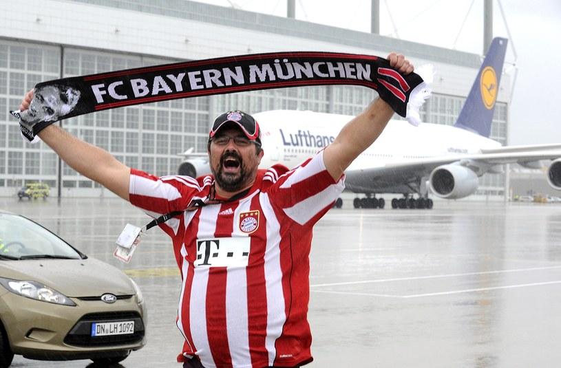 Kibic Bayernu po triumfie monachijczyków w Lidze Mistrzów /AFP