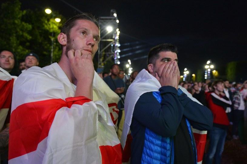 Kibice Anglii nie mogli uwierzyć w to, co się stało /AFP