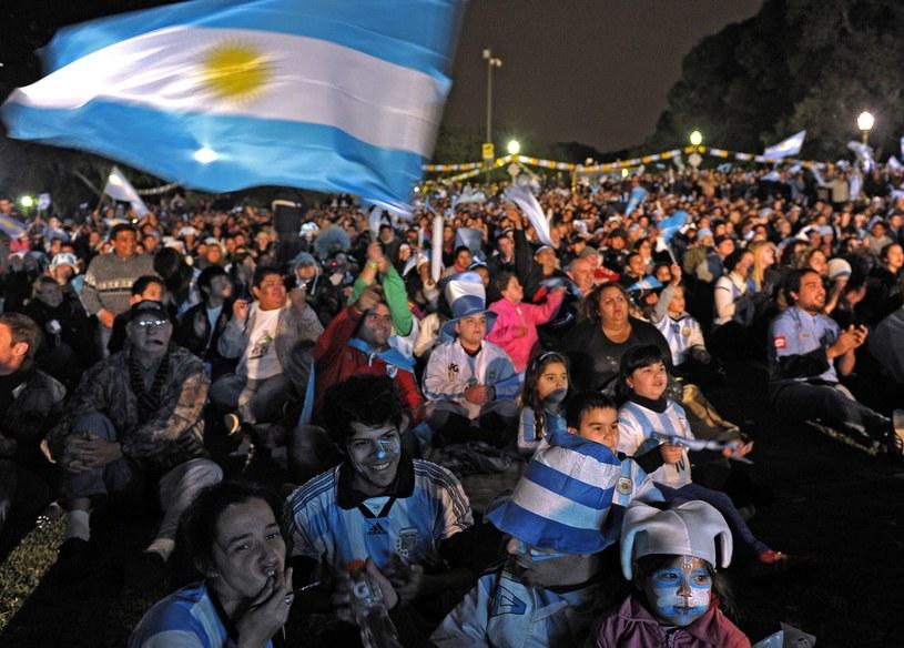 Kibice Argentyny w Buenos Aires /AFP