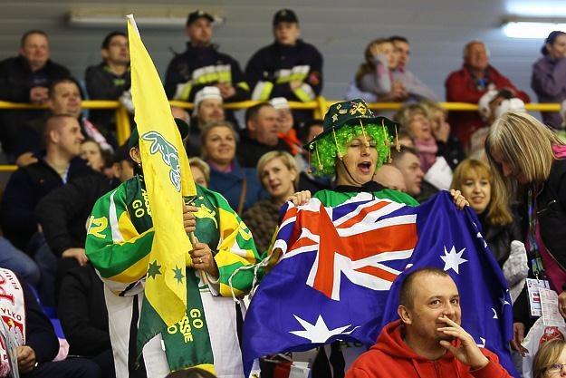 Kibice Australii gorąco zagrzewali do boju swoich hokeistów na hali w Krynicy /INTERIA.PL