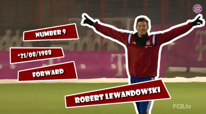 Kibice Bayernu mają okazję lepiej poznać Lewandowskiego (źródło: FC Bayern TV) /Internet
