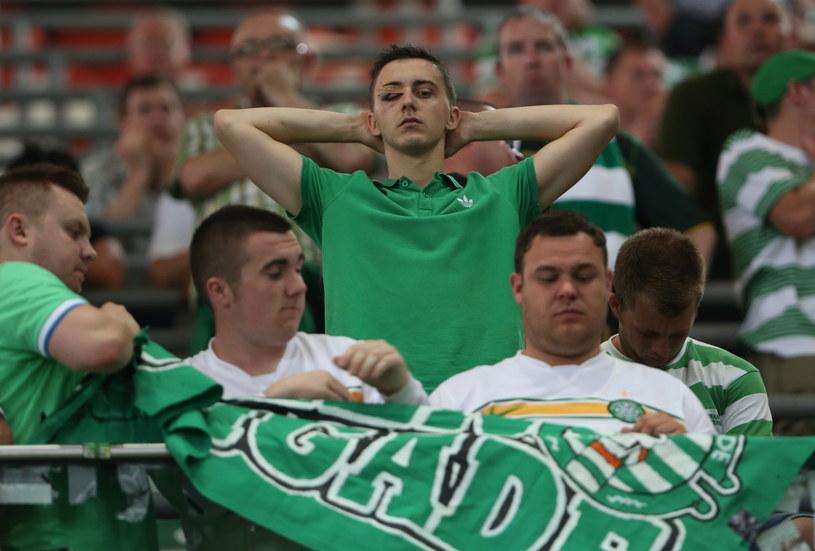 Kibice Celticu w Warszawie nie mogli uwierzyć w to, co widzą /Leszek Szymański /PAP