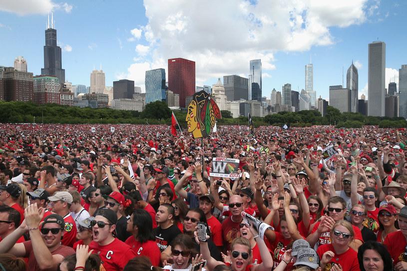 Kibice Chicago Blackhawks fetowali zdobycie Pucharu Stanleya /AFP