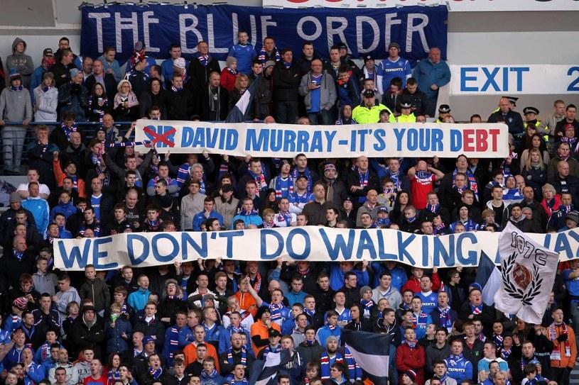 Kibice Glasgow Rangers są załamani sytuacją w klubie. /. /AFP
