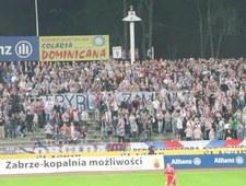 Kibice Górnika protestowali przeciwko zamknięciu stadionu Legii