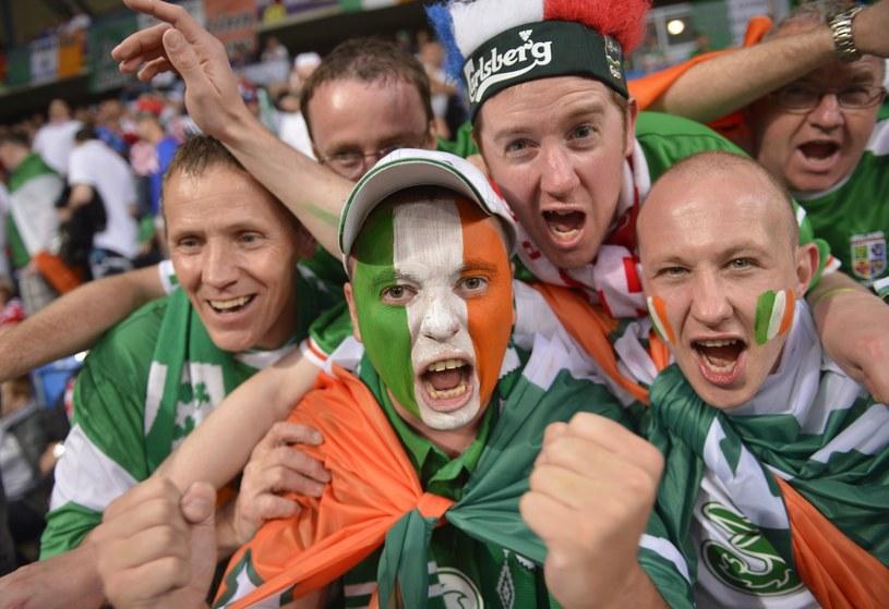 Kibice Irlandii na meczu w Poznaniu /AFP