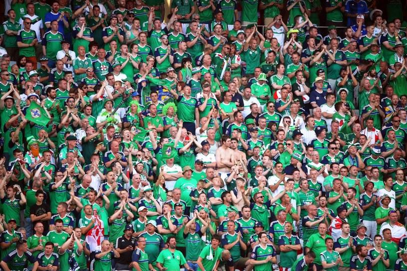 Kibice Irlandii Północnej na stadionie w Nicei /PAP/EPA