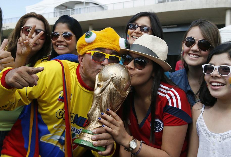 Kibice Kolumbii wierzą, że ich drużyna wygra mundial /DENNIS M. SABANGAN /PAP/EPA