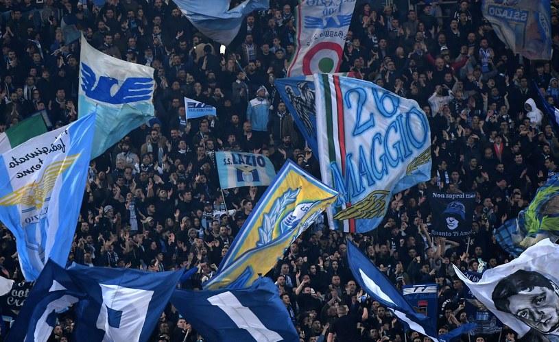 Kibice Lazio podczas ostatnich derbów z Romą /AFP