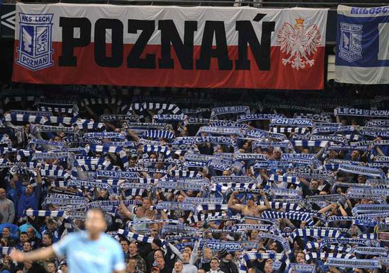 Kibice Lecha Poznań /AFP