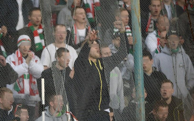 Kibice Legii Warszawa na stadionie w Neapolu /PAP/EPA