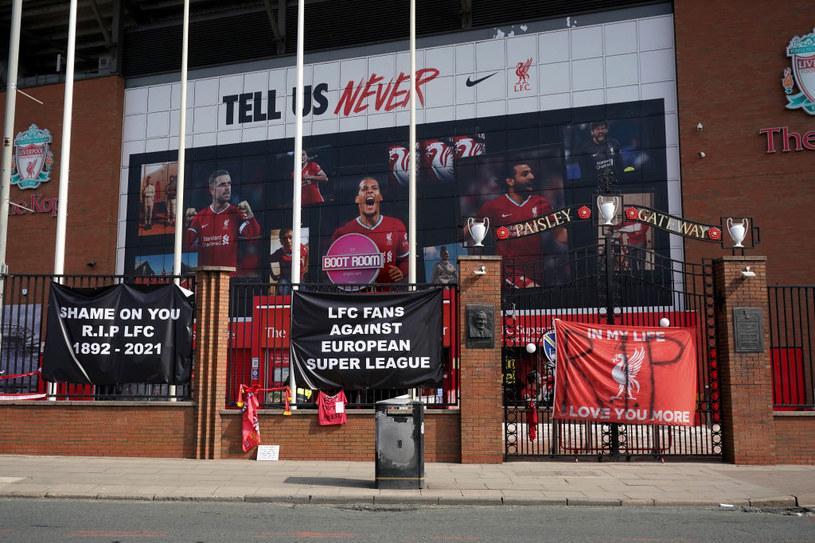 Kibice Liverpoolu wyrazili swoje niezadowolenie z powodu dołączenia do Superligi /Christopher Furlong /Getty Images