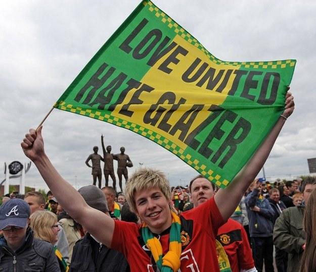 Kibice Manchesteru United protestują przeciwko właścicielom klubu /AFP