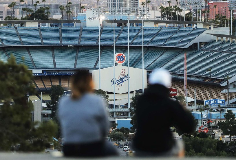 Kibice na Dodger Stadium w Los Angeles /AFP