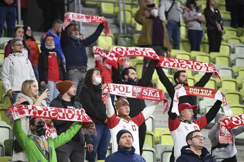 Kibice na meczu Polska - Finlandia /Adam Warżawa /PAP