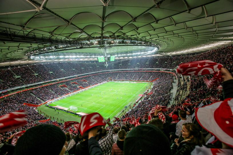 Kibice na Stadionie Narodowym podczas meczu Polska - Islandia /Leszek Szymański /PAP