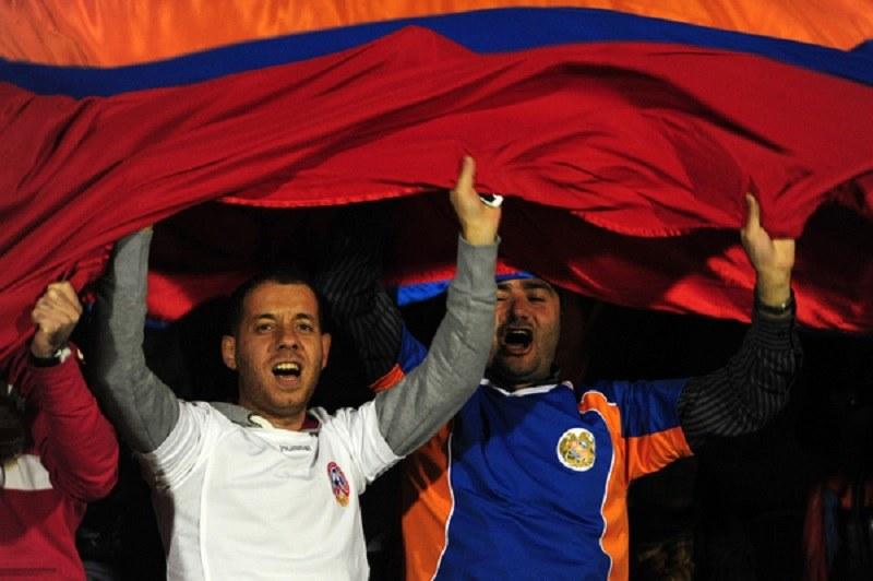 Kibice piłkarscy z Armenii /AFP