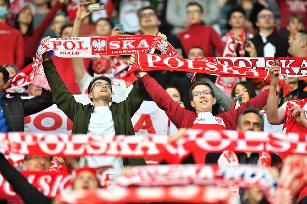 Kibice piłkarskiej reprezentacji Polski podczas meczu towarzyskiego z Rosją / Maciej Kulczyński    /PAP