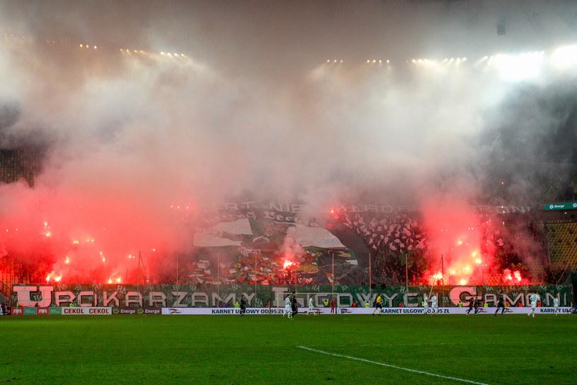 Kibice podczas meczu Lechia - Górnik /GRZEGORZ RADTKE /Newspix
