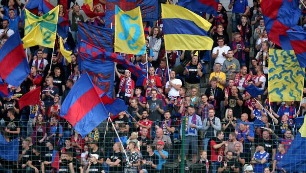 Kibice podczas meczu Piasta Gliwice z BATE Borysów / Andrzej Grygiel    /PAP