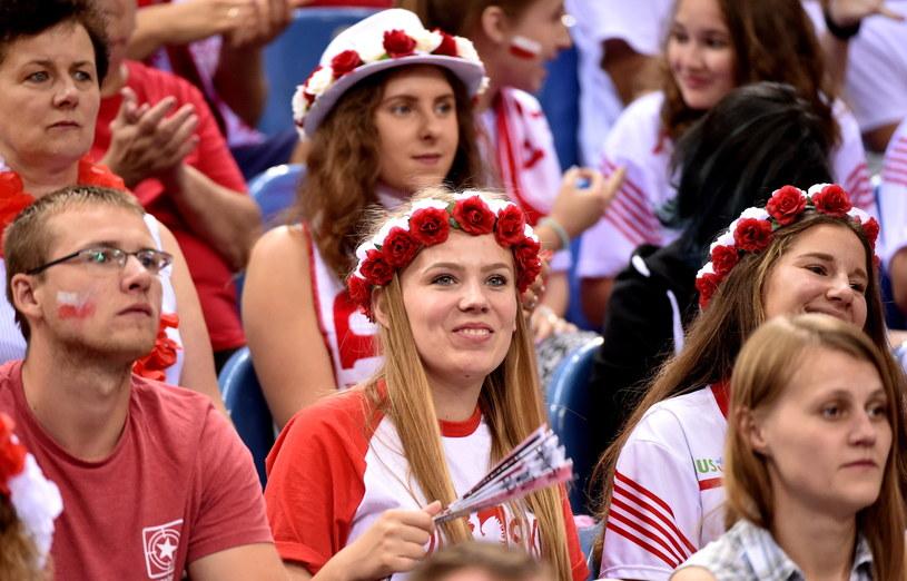 Kibice podczas meczu Polska - Francja /Jacek Bendarczyk /PAP