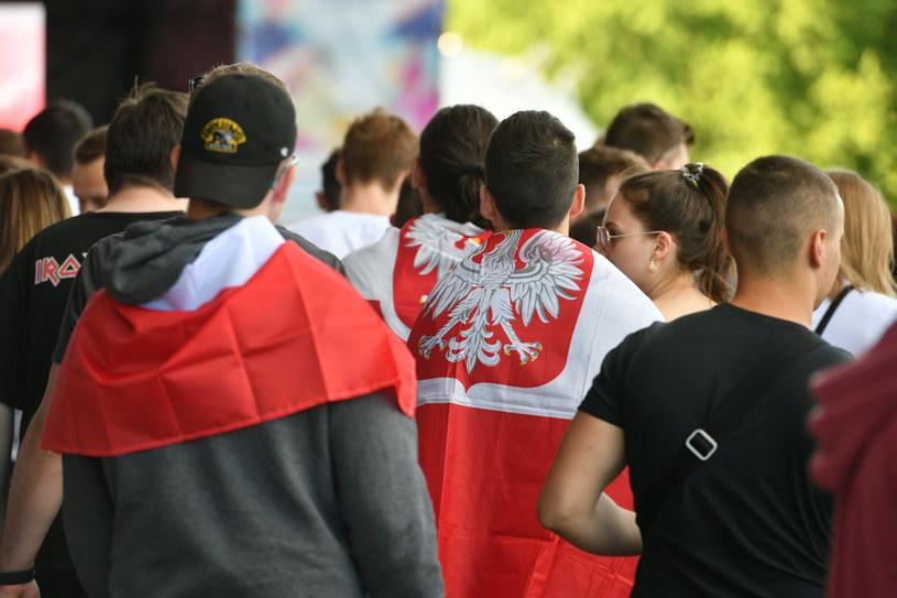 kibice podczas meczu Polska Słowacja na Euro 2020 /Artur Barbarowski /East News