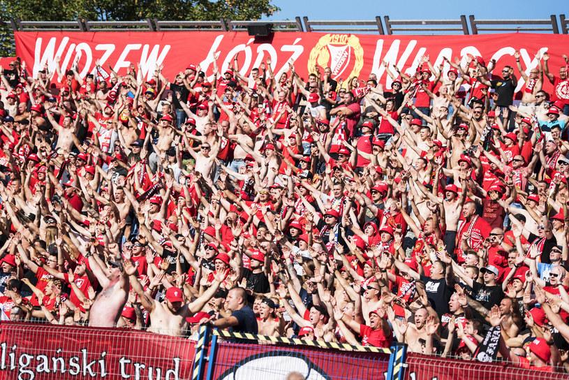 Kibice Widzewa Łódź mają powód do radości /Kacper Kirklewski /Newspix