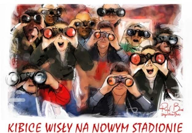 Kibice Wisły będą musieli udać się do sklepu optycznego, zanim pójdą  na stadion. /INTERIA.PL