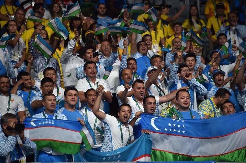 Kibice z Uzbekistanu na igrzyskach w Rio /AFP